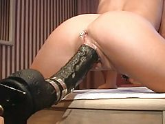 Brutal Dildo Fucking Rams Her Fast And Hard