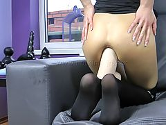 dildo king, 14,BLACK WIDOW HUGE TOY ANAL FUCK