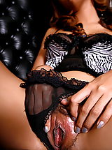 The Black Alley Pics: aunya 02 black stockings secretary vulva