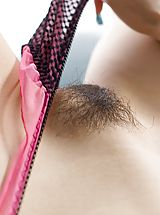 Hairy Pics: Japanese tramp is hot in her tight blue jeans
