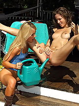 dildo and fisting, malena morgan 01 gardener wet girls pussy pics
