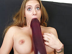 dildo and fisting, Jenna stretching her cunt with a monster dildo