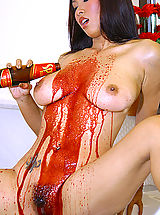 Asian Women nancy ho tits 01 bottle fuck shower
